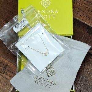 Kendra Scott Chelsea Pendant Necklace Drusy Gold